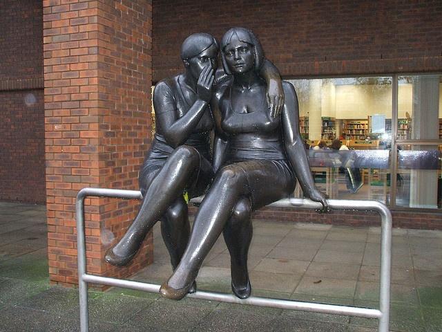 The Whisper outside Milton Keynes Library