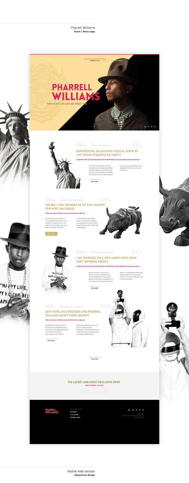Beautiful Digital Branding: Discover the World of Pharrell Williams | Abduzeedo Design Inspiration
