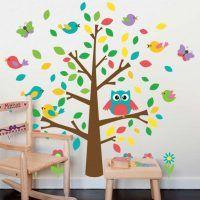 Populär väggdekor till barn! Träd med söta fåglar, fjärilar och ugglor som med sin storlek på 110 x 118 cm passar perfekt i barnrummet Du bestämmer själv hur du vill montera väggdekoren och kan anpassa storlek som du vill. Motivet kommer i ett ark på 60×90 cm. Höjd: ca. 110cm Bredd: ca. 118 cm Material: …