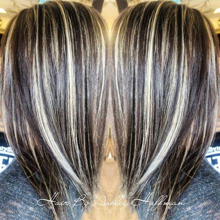 Day & Night Hair Color Soft Dark Brown With Cream Soda Blonde Highlights  Joico Hair Salon