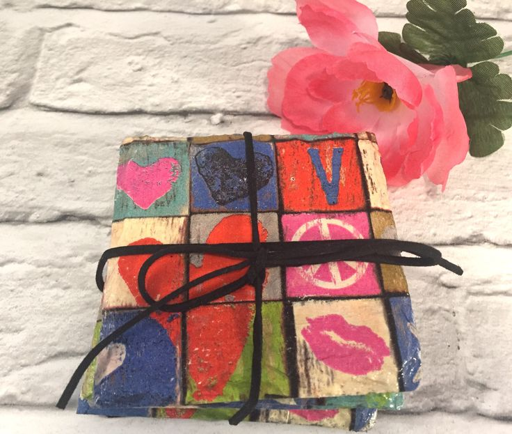 Excited to share the latest addition to my #etsy shop: Retro kitchenware, hippie home decor , 70s coasters set, slate coasters, tea coasters, napkin decoupage coaster set #housewares #70skitchenware #hippiedecor #slatecoasters #setoffour #peacesign #lovesign #giftforlovers #lovecoasters