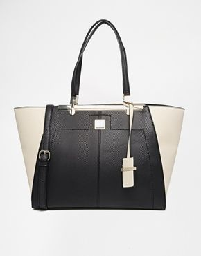 River Island Contrast Winged Tote
