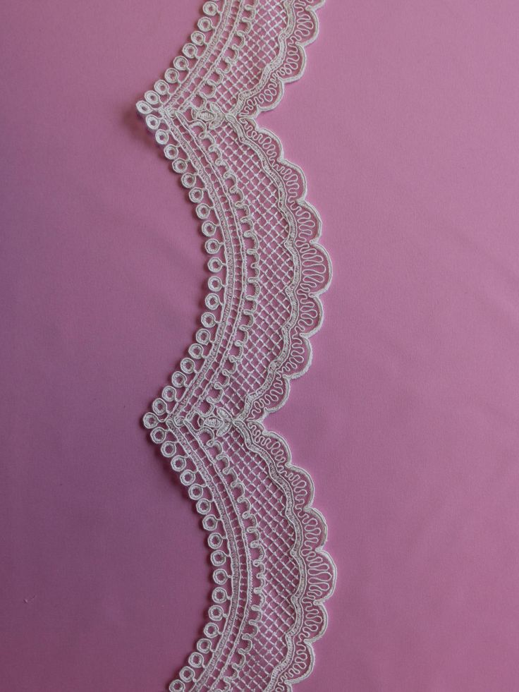 An ivory lace edging that has been added to our range in April 2016. An ivory tulle base has been embroidered and then corded in an a striking design. This trim measures 6-7cms (2.5-3) in width and has a design that repeats along its length of 15cms (6) LISTING IS FOR 1 YARD! WE CAN GET AS MANY YARDS AS YOU NEED! We are the go to source for designers and dressmakers looking to add a unique touch to their stunning creations. With bridal fashion always changing, it can be a challenge…