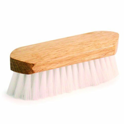 """7.5"""" Soft Clear Poly Fiber, Body Grooming Brush by Kelley. $7.30. Soft Clear Poly Body Brush - Pony Express Dandy Style Brushes have beautiful, 7 1/2"""" polished hardwood handles with a mix of natural and synthetic fibers."""