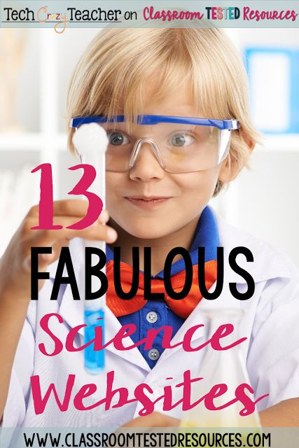 Looking for great science websites for your classroom? Here is a list of 13 awesome science websites for elementary students!