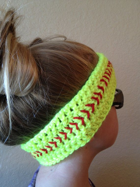 Softball Headband Baseball Headband Softball by SoftballStitch