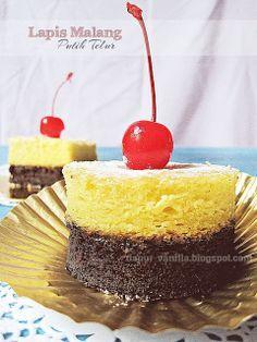 Dapur Vanilla: Cake Putih Telur - Lapis Malang Putih Telur
