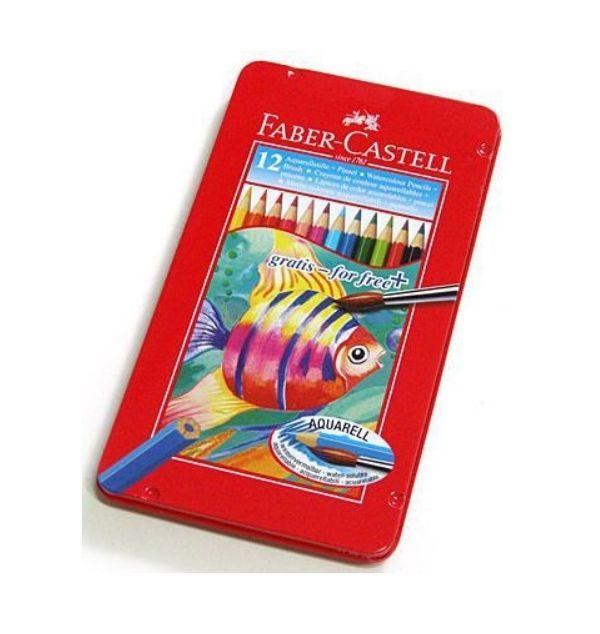 Faber Castell (Regular Size) 12 Set of Colors Aquarellstifte Watercolor Pencils