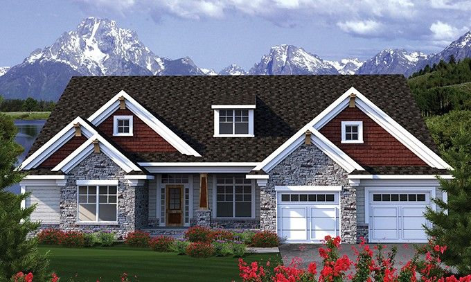 Eplans Ranch House Plan Traditional Ranch With A Modern