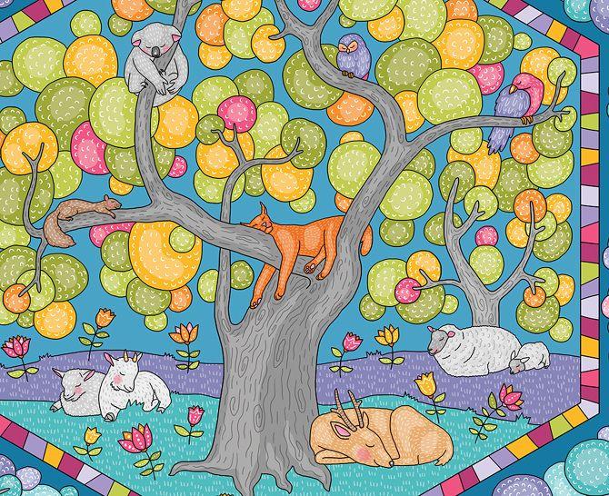 Sleeping animals - Natalia Illarionova Illustration
