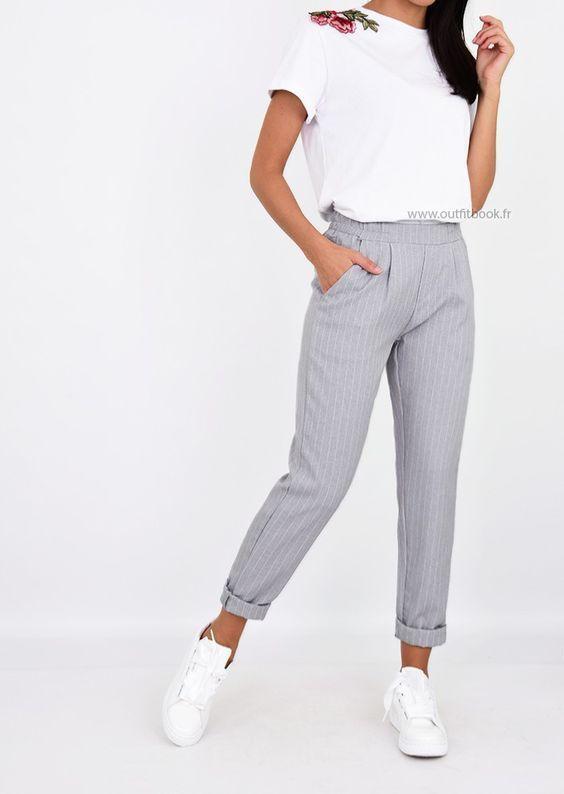 89f9ac5ff239e Stitch Fix winter spring 2018, outfits, style, clothing | Mode in 2019 | Pantalon  gris, Vêtements kpop, Vêtements de style