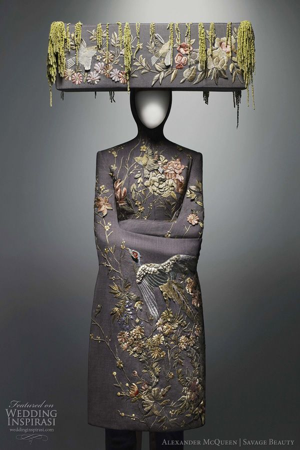 Alexander McQueen  wedding dress inspiration from the 2011 savage beauty exhibition at The Costume Institute of the Metropolitan Museum of Art, New York.