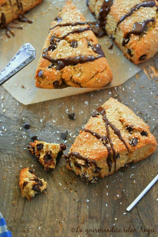 scones vegan chocolat coco