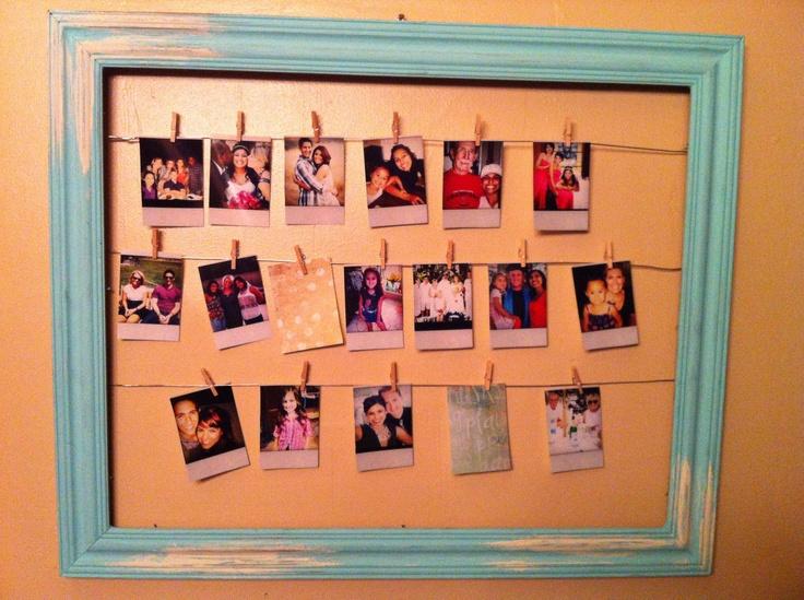 Multiple photo antique picture frame. $45.99, via Etsy.