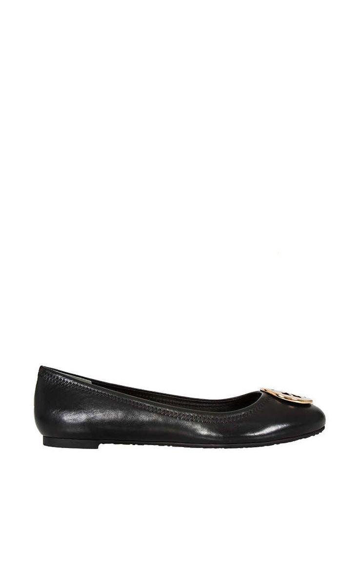 Ballerina Reva Ballet Flat BLACK/GOLD - Tory Burch - Designers - Raglady