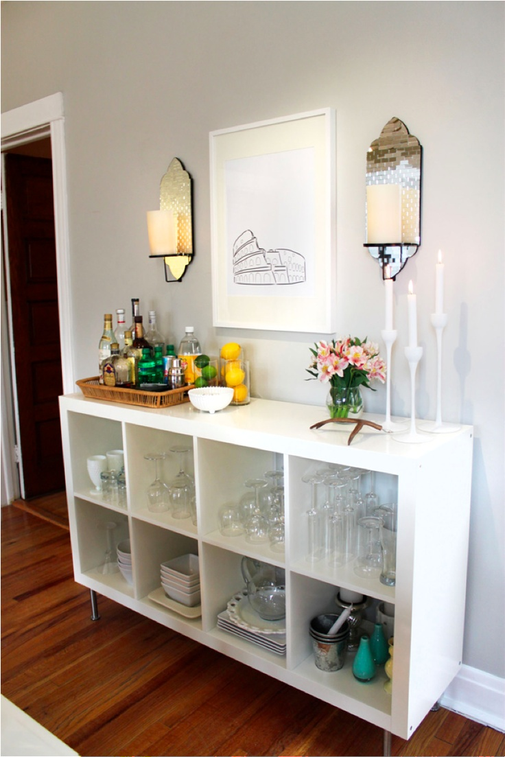 ikea expedit shelves as bar simple but classy ben 39 s
