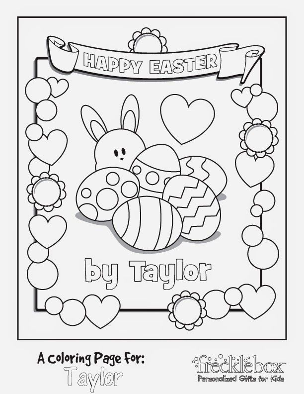 Customize Easter Coloring Page