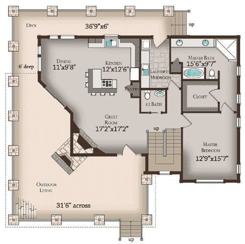 LOVE this floor plan!!! - Architecture Daily