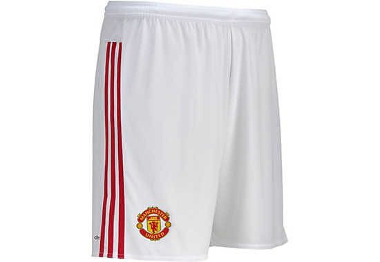 adidas Manchester United Home Short - White & Red