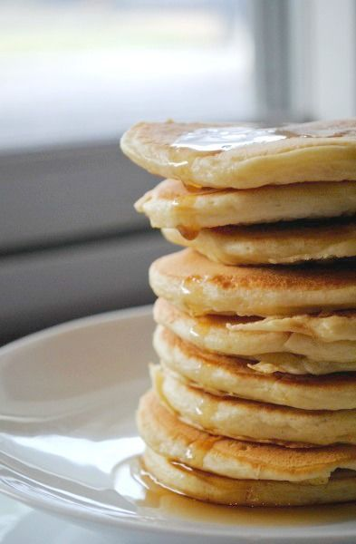 Easy baby cereal pancakes recipe. Great first food for baby, or for baby led solids.