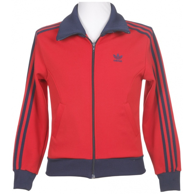 Adidas Red & Navy Tracksuit Jacket