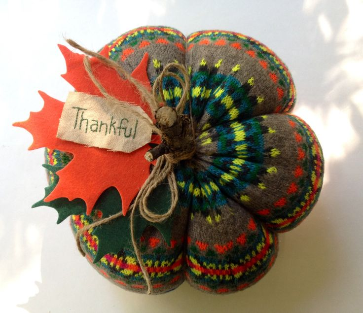 A personal favorite from my Etsy shop https://www.etsy.com/listing/487182833/sweater-pumpkin-thanksgiving-decoration