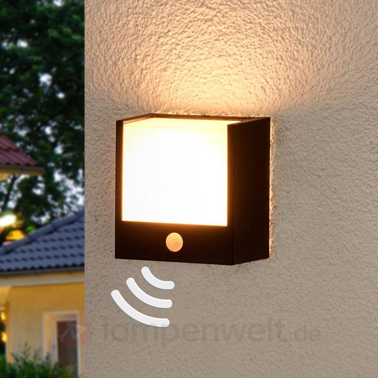 Macaw LED Aussenwandlampe Mit Bewegungsmelder Sicher Bequem Online Bestellen Bei Lampenweltde