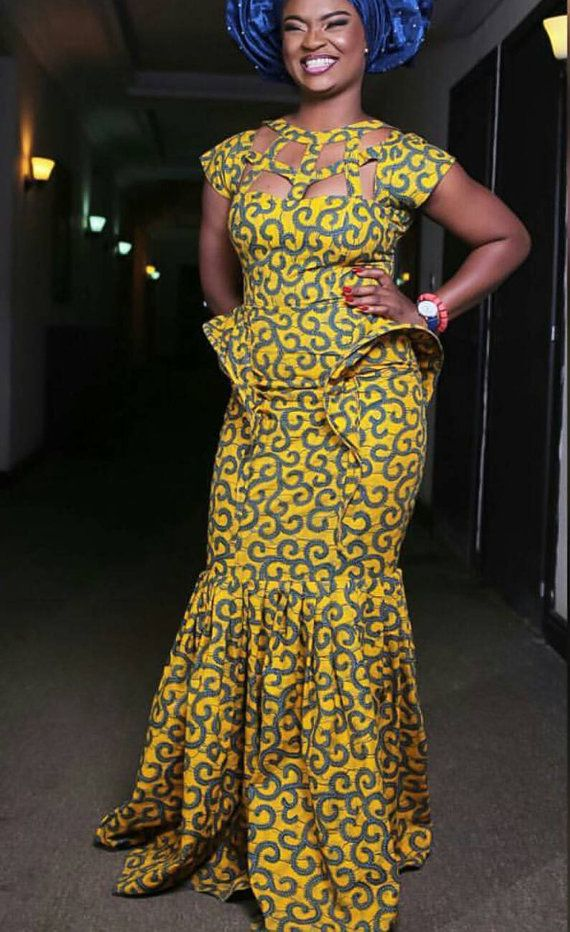 African/ethnic /new ankara mermaid long by AFROCOLLECTION2015