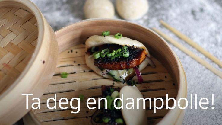 Kinesisk vegetarmat som du spiser mens du holder den i hånden. Små boller dampes, tofu stekes og grønnsaker syltes. Oppskrift fra Richard Nystad i Brønsj.