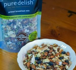 Primal Breakfast Mix | Pure Delish This delicious and healthy breakfast mix contains 100% fruit nuts and seeds with a splash of olive oil for lightly toasting. It is delicious, nutritious and wholesome and a great breakfast option for those that are wheat or gluten intolerant or on a paleo style diet. No wheat gluten egg, dairy or added sweetners/sugar. #primal #paleo #glutenfree | www.puredelish.co.nz/where-to-buy/
