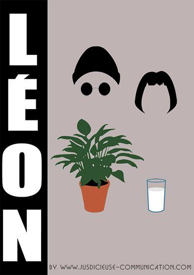 Affiche minimaliste flat design de l on luc besson par adeline graphiste angers cine for Poster et affiche