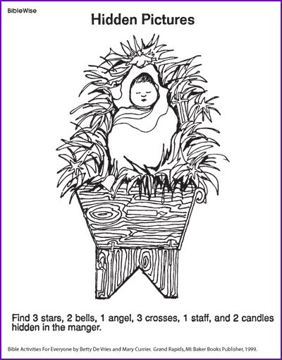 Here is a Christmas printable to share with your sponsored children - Find Items in Baby Jesus' Manger (Nativity Puzzle)