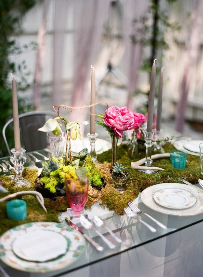 enchanting and whimsical, this table set up is simply darling! see more gorgeous work from Ooh! Events here http://www.weddingchicks.com/vendor-guide/ooh-events/