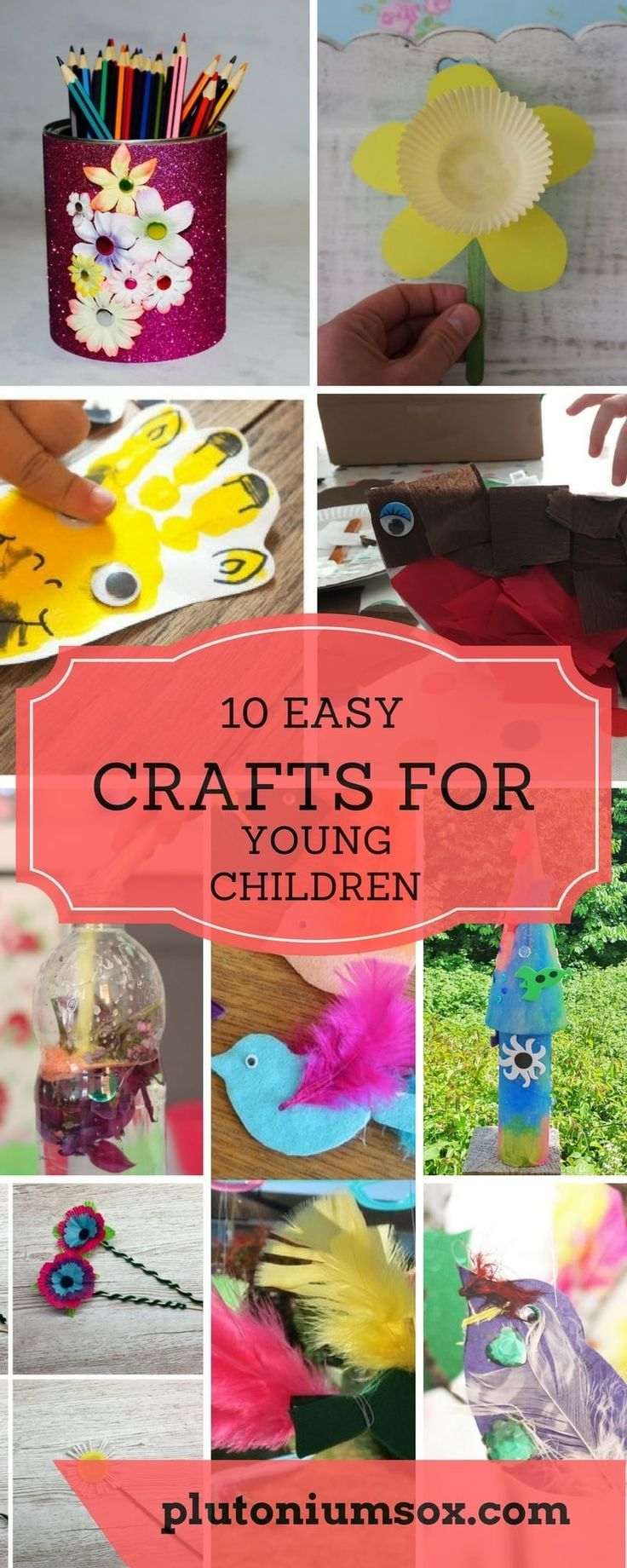 Preschoolers will love these 10 simple crafts for young children. Whether you are crafting with babies, toddlers or primary school age children, you will find something that is easy enough or challenging enough for them to enjoy making. All these craft pr