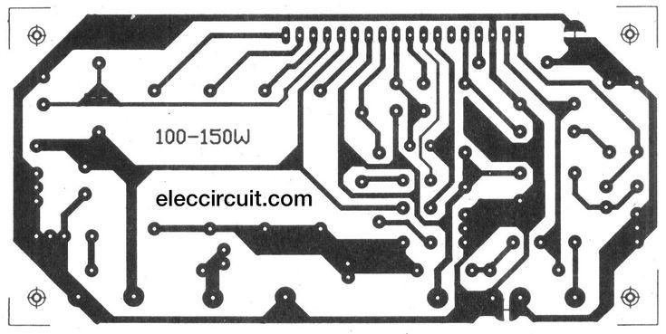 hybrid power amplifier circuit 100w