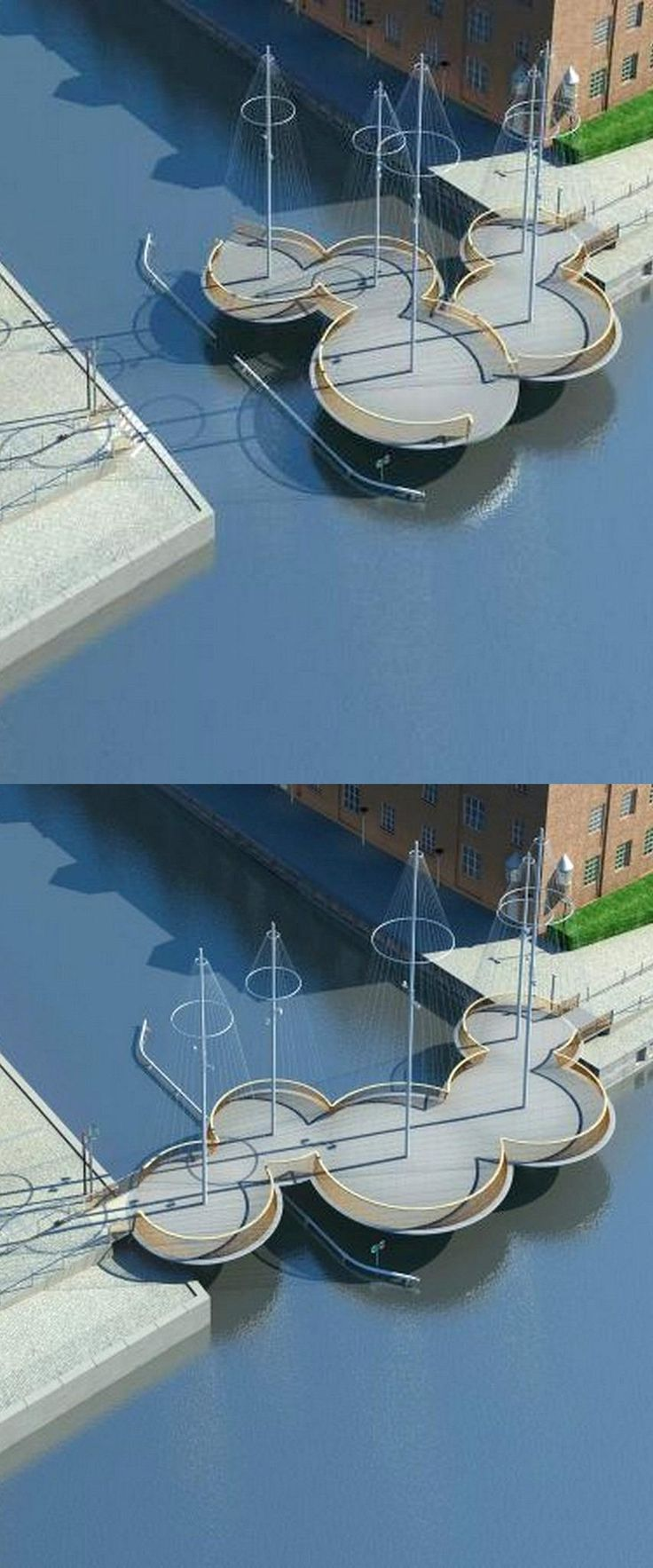 Cirkelbroen cycle and pedestrian bridge, Copenhagen by Olafur Eliasson. Click image for link to full story with video, and visit the slowottawa.ca boards >> https://www.pinterest.com/slowottawa/