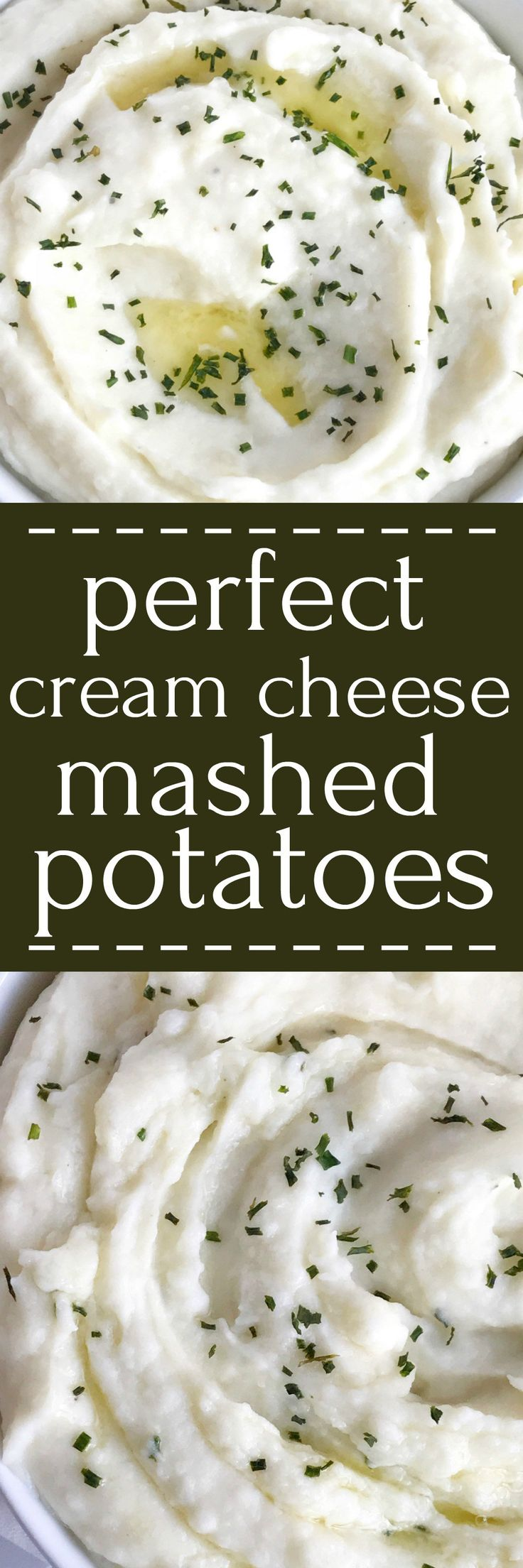 These are perfect cream cheese mashed potatoes. Only a few simple ingredients for creamy, smooth, and mashed potatoes that are full of flavor. A great side dish for Thanksgiving, dinner, or any special Holiday dinner