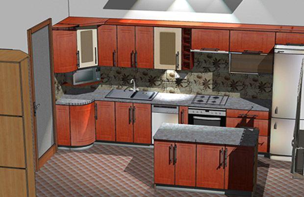 Wizualizacja mebli kuchennych - realizacja okolice Jasła.