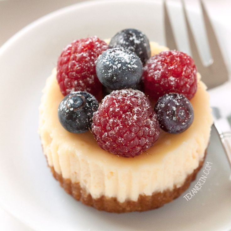 These grain-free and gluten-free mini cheesecakes are incredibly easy to make and are great for parties!