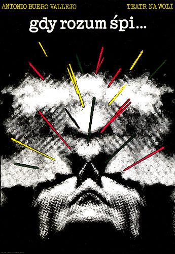 [1976] ROMAN CIESLEWICZ (1930-1996)  Contexto: Años 60s 70s ÉPOCA DORADA de la escuela del cartel polaco.  Su estilo:  Relación con el cine y teatro underground de vanguardia polaca. _Técnica COLLAGE _Imágenes de MEDIO TONO (escala de grises) usando los PUNTOS DE TRAMA como TEXTURA. Le dio un nuevo uso a la tipografía, la fotografía y los puntos de trama.