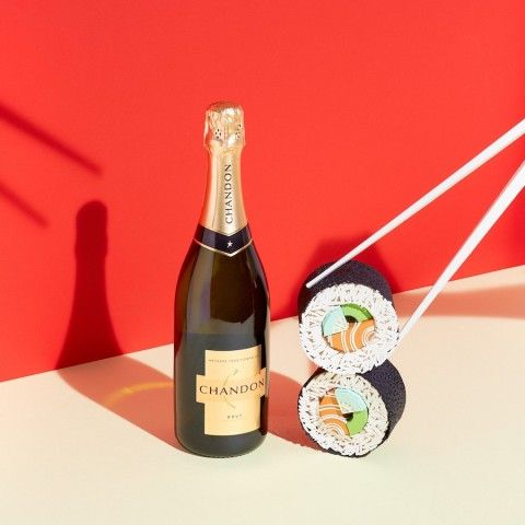REVERBERE , papercraft, sushi, champagne bottle