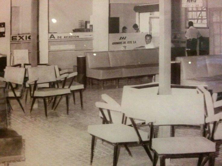 Sala de espera del antiguo aeropuerto