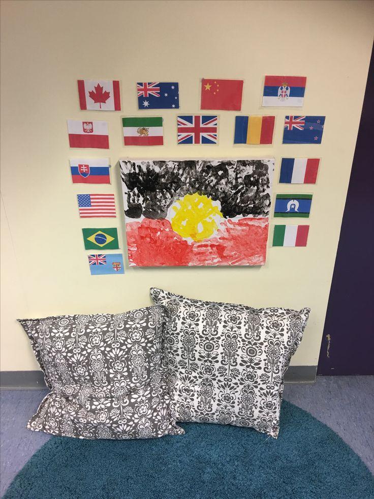 Our flag hanging proudly for the babies in the nursery at CityWest Childcare Centre Pyrmont. #aboriginal #aboriginalandtorresstraitislander #earlychildhoodeducation #nursery #teachersofinstagram #earlychildhoodteacher
