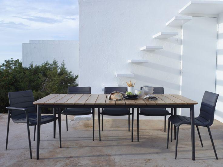 CORE DINING stół ogrodowy 210×100. Cane-line.