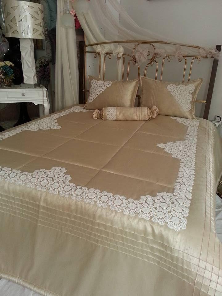 Dantel yatak örtüsü