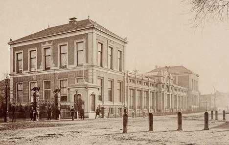 De Plantage toen die nog Ledenlokalen heette, waarschijnlijk 1874.