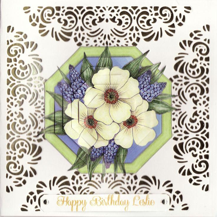 3D flowers Birthday Card (by Tassie Scrapangel)