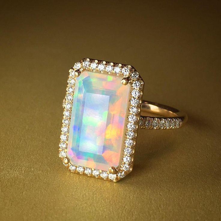 Instagram photo by @kremkow @laurenkfinejewelry opal ring at JA