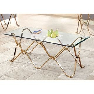 Shop For Furniture Of America Tellarie Contemporary Champagne Coffee Table.  Get Free Shipping At Overstock · Furniture OutletOnline ...