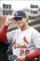Who doesn't love a new Matheny Hey Girl? Miranda's Meme Fun. Mike Matheny. #meme